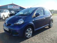 57 TOYOTA AYGO BLUE 1.0 VVT-i 5DR LOW INSURANCE £20 YR TAX