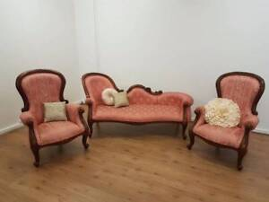 Reduced - Soft Pink Vintage Chaise Lounge Suite Chermside Brisbane North East Preview