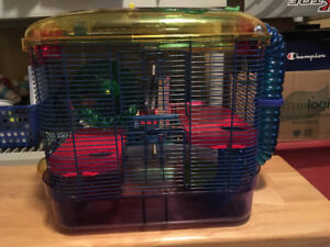 Multi layer hamster cage, travel case for sale
