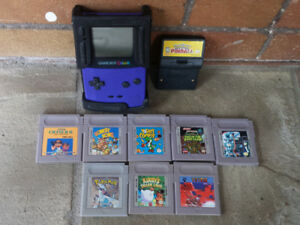 Game Boy Color w. Games