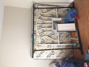 Double bed , bed rails , box spring
