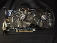 Gigabyte windforce 650ti graphics card.