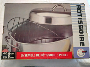 "NEW STAINLESS STEEL ROASTER 16""x 11.5"""