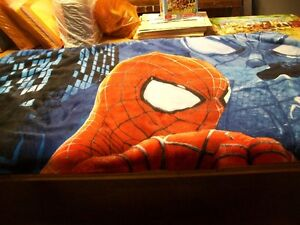 Spiderman plush throw