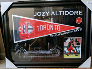 Signed Jozy Altidore framed TFC picture