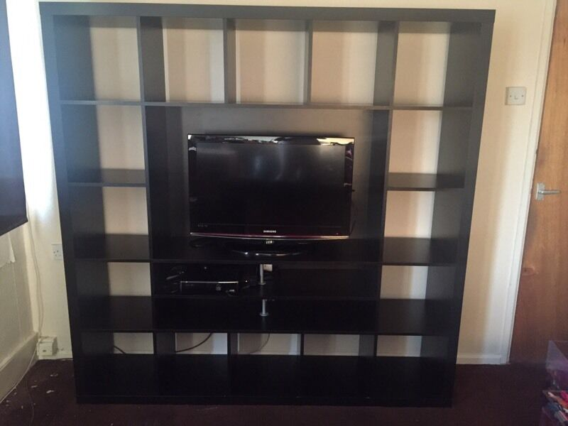 Ikea Kallax Storage Unit Tv Stand Bookshelf Dvd Box