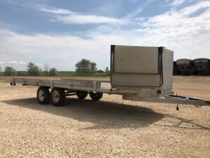20ft trailer with aluminum front and fold down ramp
