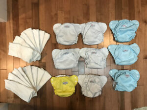 9 AppleCheek size-two diapers and 15 2-ply inserts