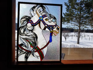 Horse Stained Glass Window