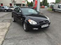 57 plate Hyundai Accent 1.4 Atlantic in black a nice car to drive