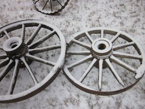 Metal farm implement wheels are wanted