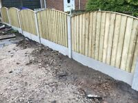 🔨🌟The Best Quality Feather Edged Pressure Treated Arch Top Fence Panels