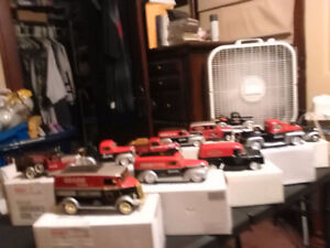 Collectible Diecast bank collection 11 different vehicles