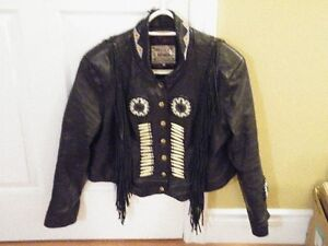 Woman's Leather Motorcyle Jacket