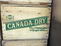 Vintage Wooden Beverage Crates; Retro Bottle Crates