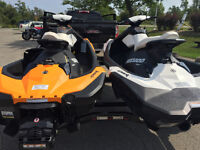 2014 Seadoo Spark 3UP/2UP with Seadoo double Move trailer