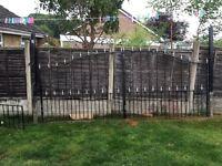 Wrough iron gates and fence panels