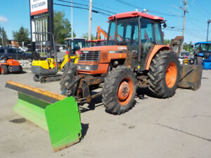 KUBOTA M9000 DTC WITH SNOWPLOW AND NORMAND BLOWER 92 HP