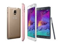 SAMSUNG GALAXY NOTE 4 32GB NEW CONDITION UNLOCKED WITH WARRANTY AND RECEIPT