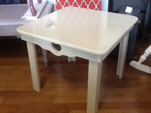 Country cream side table