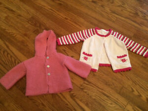 Baby girl 2 sweaters (6-12 months)