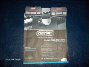 Genie Garage Door Opener and Two Remotes