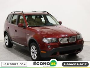 2009 BMW X3 30i AWD AUTO A/C GR ELECT CUIR TOIT OUVRANT PANO
