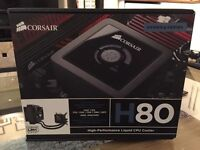 Corsair H80 All In One CPU Watercooler with SP120 Fans