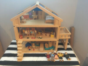 Plan Toys Terrace Dollhouse + Accessories