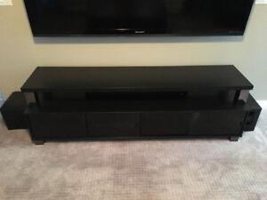 "Sonax 75"" Black 2-Tier TV Stand"