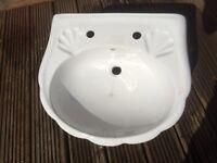 Sink basin & pedestal New bathroom ensuite utility room white