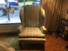 Antique wing back chair