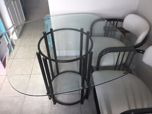 Glass dining set for sale!!