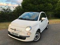 2010 White Fiat 500 1.2 Lounge 3 Door - Leather Interior - Full Service Hist