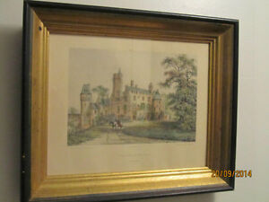 Framed Colored Benoist Lithograph