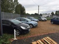 Car / van sales site available to rent, established over 10 years with office and workshop no vat