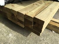 "🌳Pressure Treated Wooden/Timber Lengths/Rails -New- 4""x 2""X 14Ft🌳"