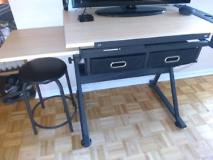 Artist work table desk with stool Stratford