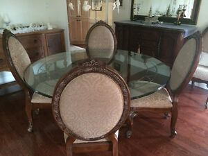 8pc Dining Room set & Sideboard by Michael Amini