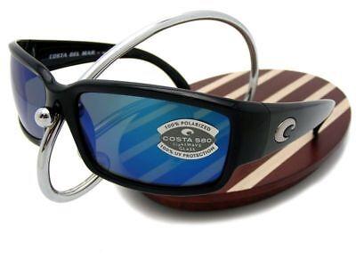 3c7a288db9 NEW Costa Del Mar CABALLITO Black   580 Blue Mirror Glass 580G