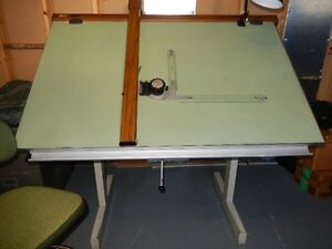 Drafting Table, Drafting Machine, and Drafting Stool