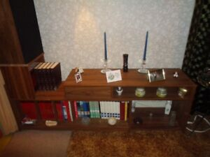 Solid Wood Bookcase/Table Top with One (1) Drawer