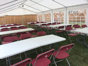Cheap Table, Chair, LED lights and Tent Rentals!
