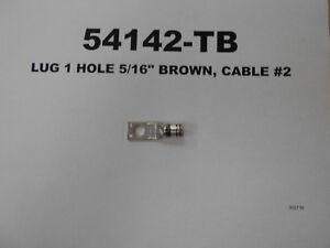 """54142 - LUG 1 HOLE 5/16"""" BROWN, CABLE #2"""