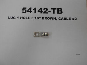 "54142 - LUG 1 HOLE 5/16"" BROWN, CABLE #2 West Island Greater Montréal image 1"