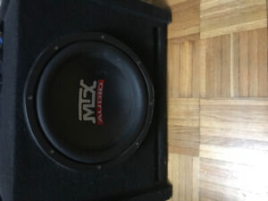 MTX Audio Amp and Sub combo
