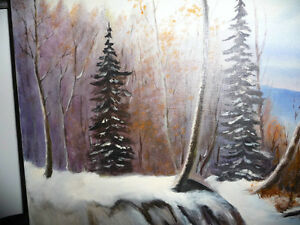 """Winter Trail"" Original Oil by S. Irsag Stratford Kitchener Area image 8"