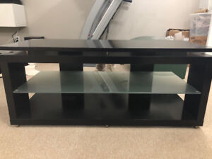 Black Solid TV Stand (can hold up to a 70 inch TV)