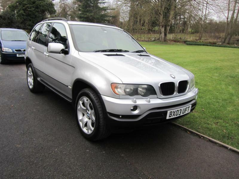 2003 03 bmw x5 sport diesel automatic 4x4 5 door sat nav silver metallic in bromsgrove. Black Bedroom Furniture Sets. Home Design Ideas