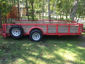 7x14 single  axle trailer